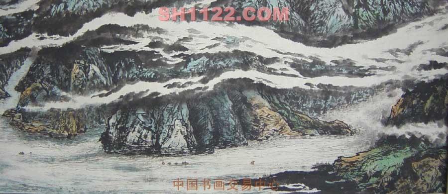 山水名家 姜春晓 国际艺栈 > 三峡长卷局部图片