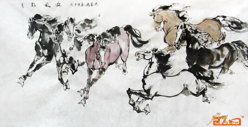 孙志臣-水墨画马-淘宝-名人字画-中国书画服务中心